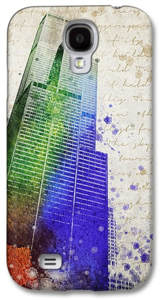 Willis Tower Galaxy S4 Cases - Willis Tower Galaxy S4 Case by Aged Pixel