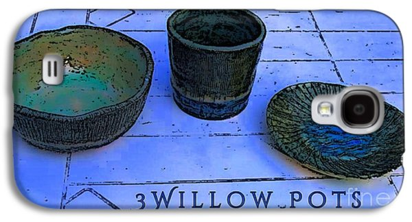 Designs Ceramics Galaxy S4 Cases - Willow Pots Galaxy S4 Case by Joan-Violet Stretch