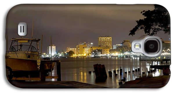 Night Scene Galaxy S4 Cases - Wilmington Riverfront - North Carolina Galaxy S4 Case by Mike McGlothlen
