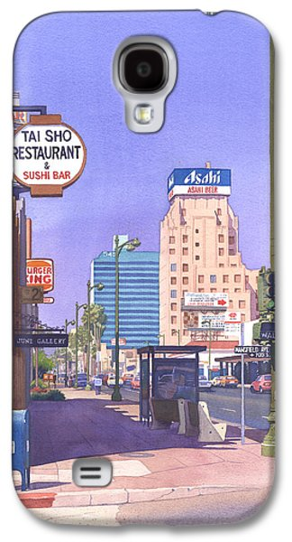 Wilshire Blvd At Mansfield Galaxy S4 Case by Mary Helmreich