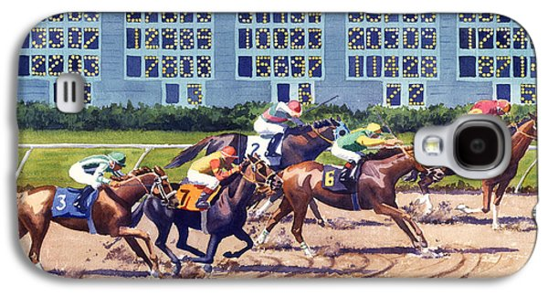 Win Place Show At Del Mar Galaxy S4 Case by Mary Helmreich