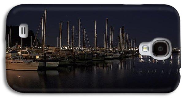 Boats At Dock Galaxy S4 Cases - Winchester Bay Marina - Oregon Coast Galaxy S4 Case by Daniel Hagerman