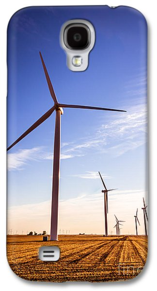 Power Plants Galaxy S4 Cases - Wind Energy Windmills Picture Galaxy S4 Case by Paul Velgos