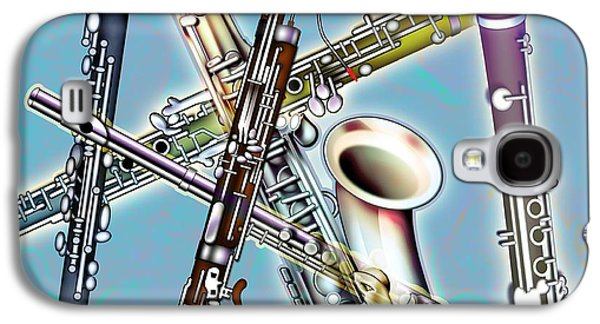 Saxophone Photographs Galaxy S4 Cases - Wind Instruments Galaxy S4 Case by Design Pics Eye Traveller