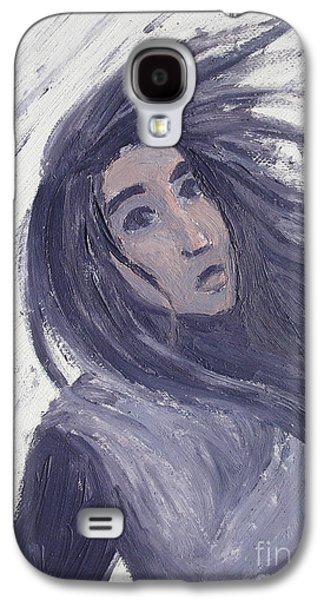 Windblown Paintings Galaxy S4 Cases - Wind Galaxy S4 Case by Kendra Tharaldsen-Franklin
