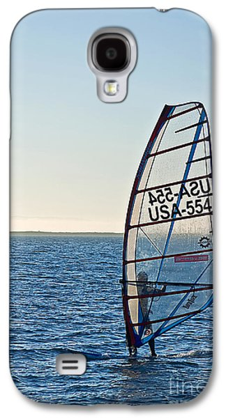 Person Galaxy S4 Cases - Wind Surfer at Dusk Galaxy S4 Case by Valerie Garner