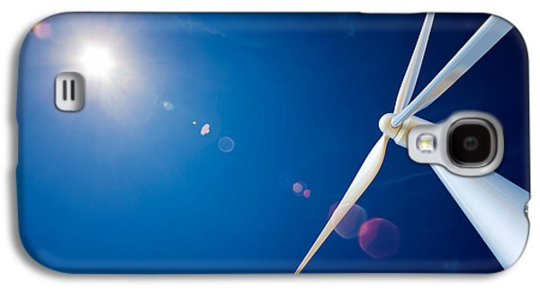 Equipment Galaxy S4 Cases - Wind Turbine and sun  Galaxy S4 Case by Johan Swanepoel