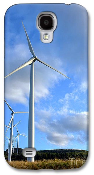 Wind Turbine Farm Galaxy S4 Case by Olivier Le Queinec