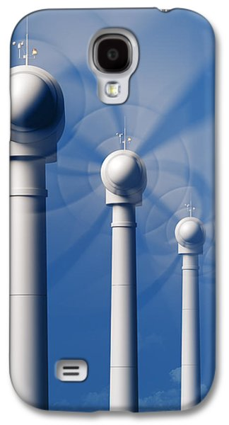 Industrial Digital Galaxy S4 Cases - Wind Turbines in motion from the front Galaxy S4 Case by Johan Swanepoel