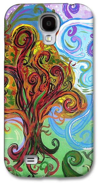 Healing Posters Galaxy S4 Cases - Winding Tree Galaxy S4 Case by Genevieve Esson