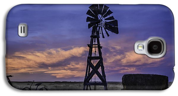 Fort Collins Galaxy S4 Cases - Windmill and Sky Galaxy S4 Case by Trish Kusal