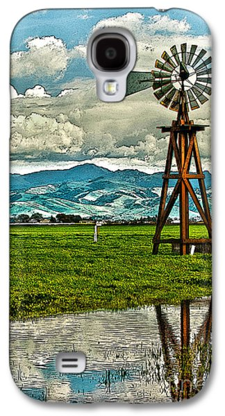 Laura Wrede Galaxy S4 Cases - Windmill on the Hills Galaxy S4 Case by Artist and Photographer Laura Wrede