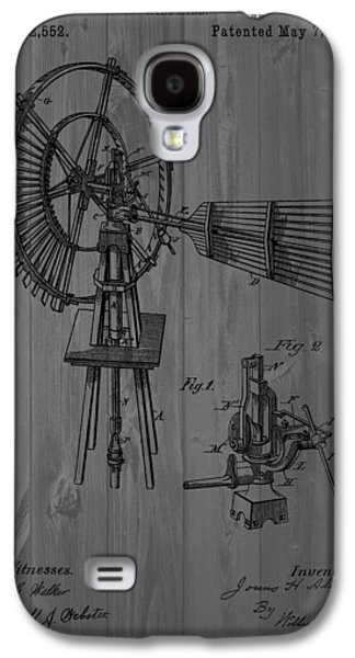 Development Mixed Media Galaxy S4 Cases - Windmill Patent Barn Wall Galaxy S4 Case by Dan Sproul