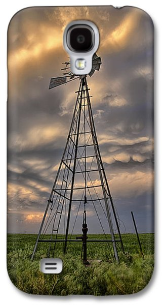Windmill Galaxy S4 Cases - Windmill Storm Galaxy S4 Case by Thomas Zimmerman