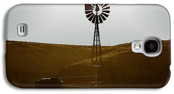 Windmill Galaxy S4 Cases - Windmill Water Pump Texas Galaxy S4 Case by Christine Till