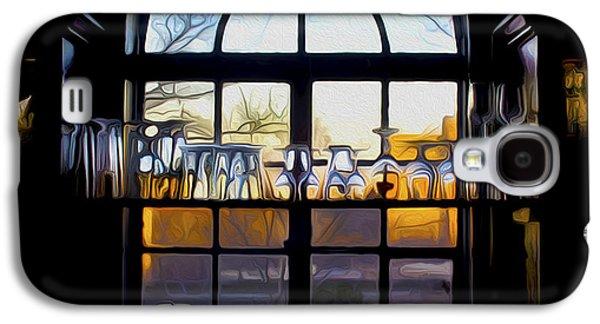 Wine Service Galaxy S4 Cases - Window In a Bar Galaxy S4 Case by Tom Kostro