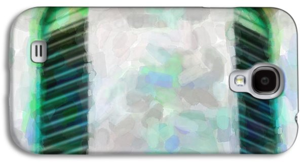 Copy Mixed Media Galaxy S4 Cases - Window In Green Galaxy S4 Case by Toppart Sweden