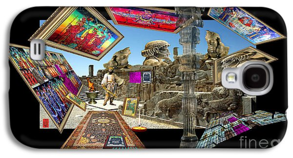Photo Manipulation Paintings Galaxy S4 Cases - Window into Persepolis Galaxy S4 Case by Dariush Alipanah- Jahroudi