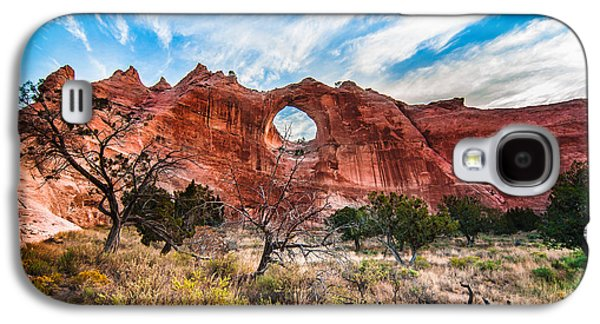 Holes In Sandstone Galaxy S4 Cases - Window Rock at Sunrise Galaxy S4 Case by Erica Hanks