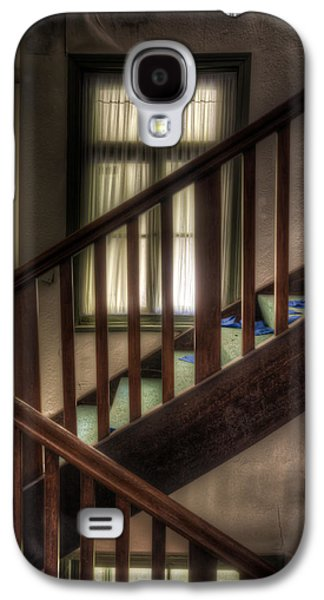 Creepy Digital Galaxy S4 Cases - Window stairs Galaxy S4 Case by Nathan Wright