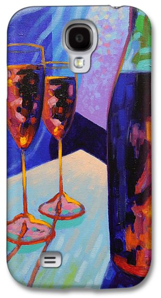 Wine Canvas Paintings Galaxy S4 Cases - Window Still Life Galaxy S4 Case by John  Nolan