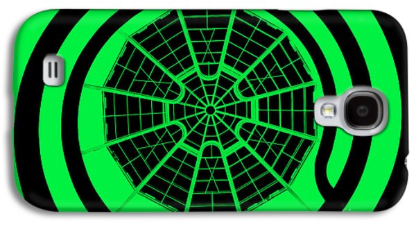 Digital Art Abstracts Galaxy S4 Cases - Window To Another World In Green - Black Galaxy S4 Case by Az Jackson