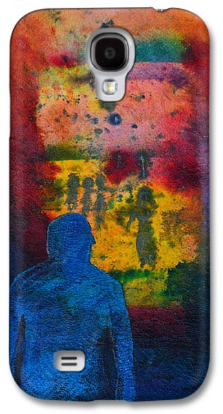 Cosmic Space Paintings Galaxy S4 Cases - Window To The Other Side Galaxy S4 Case by Donna Blackhall