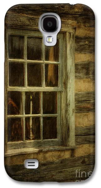 Cabin Window Galaxy S4 Cases - Window To The Past Galaxy S4 Case by Lois Bryan