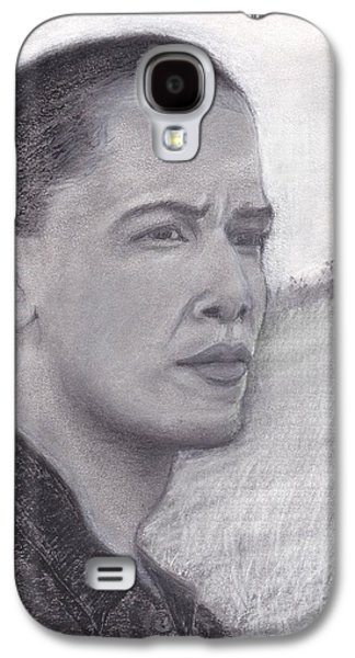 Barack Obama Drawings Galaxy S4 Cases - Winds of Change Galaxy S4 Case by Sue Carmicle