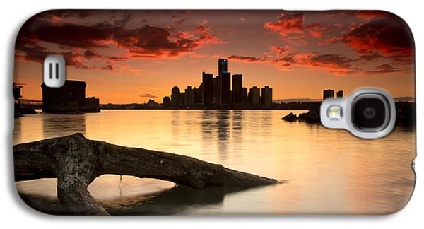 Sun Galaxy S4 Cases - Windsor and Detroit Sunset Galaxy S4 Case by Cale Best