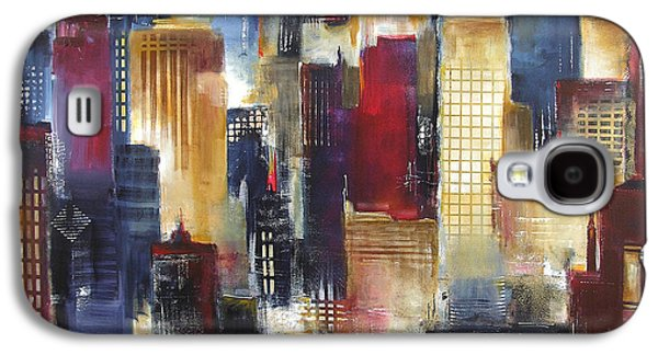 Windy City Nights Galaxy S4 Case by Kathleen Patrick