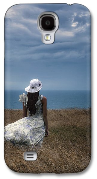 Floating Girl Galaxy S4 Cases - Windy Day Galaxy S4 Case by Joana Kruse