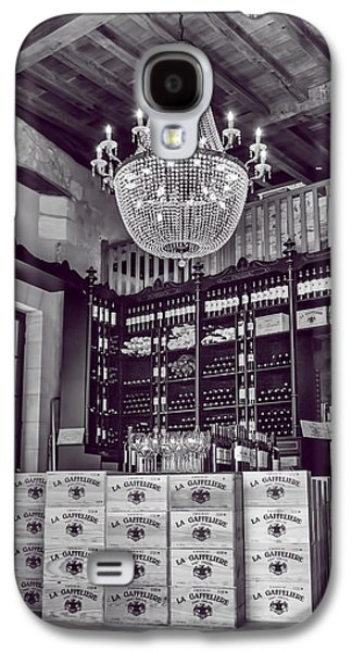 Wine And Chandeliers Black And White Galaxy S4 Case by Georgia Fowler