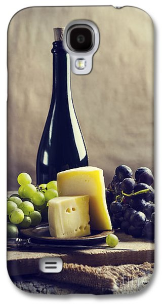 Table Wine Galaxy S4 Cases - Wine and cheese Galaxy S4 Case by Jelena Jovanovic