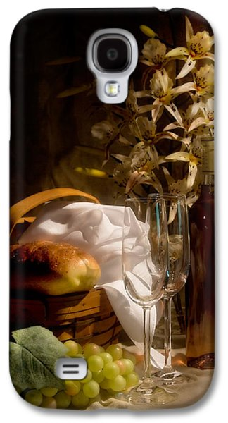 Wine Bottle Galaxy S4 Cases - Wine and Romance Galaxy S4 Case by Tom Mc Nemar