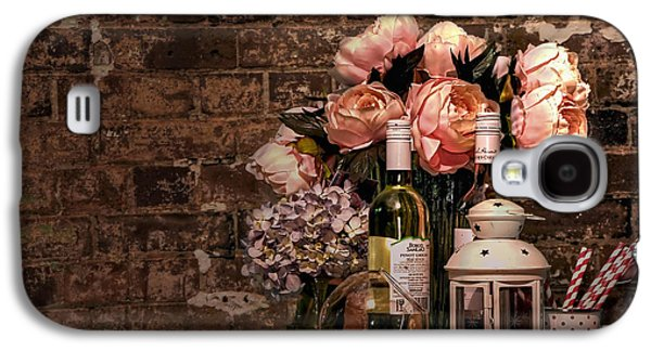 Wine Holder Galaxy S4 Cases - Wine and Roses Galaxy S4 Case by Kaye Menner
