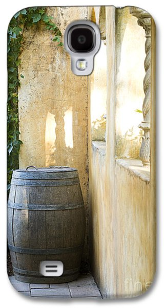 Wine Barrel Photographs Galaxy S4 Cases - Wine Barrel at the Vineyard Galaxy S4 Case by Jon Neidert