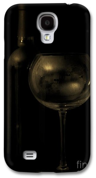 Chardonnay Galaxy S4 Cases - Wine Bottle Still Life Deep Red Galaxy S4 Case by Edward Fielding
