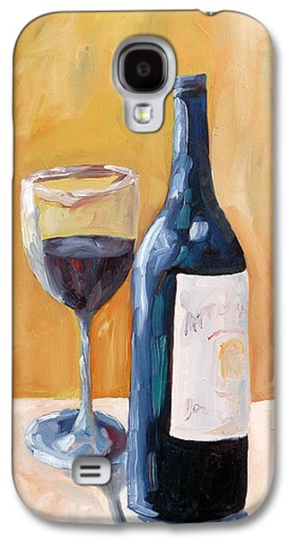 Wine Canvas Paintings Galaxy S4 Cases - Wine Bottle Still Life Galaxy S4 Case by Todd Bandy