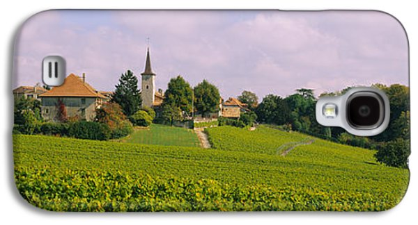 Wine Scene Galaxy S4 Cases - Wine Country With Buildings Galaxy S4 Case by Panoramic Images
