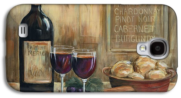 Cabernet Galaxy S4 Cases - Wine For Two Galaxy S4 Case by Marilyn Dunlap