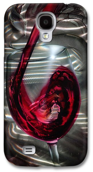 Celebration Mixed Media Galaxy S4 Cases - Wine Glass Galaxy S4 Case by Luis  Navarro