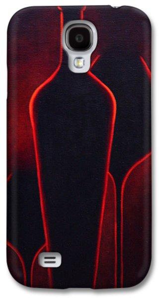Surrealistic Paintings Galaxy S4 Cases - Wine Glow Galaxy S4 Case by Sandi Whetzel