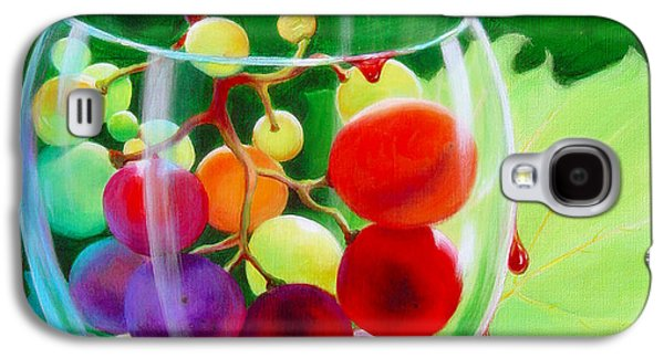Surrealistic Paintings Galaxy S4 Cases - Wine on the Vine III Galaxy S4 Case by Sandi Whetzel