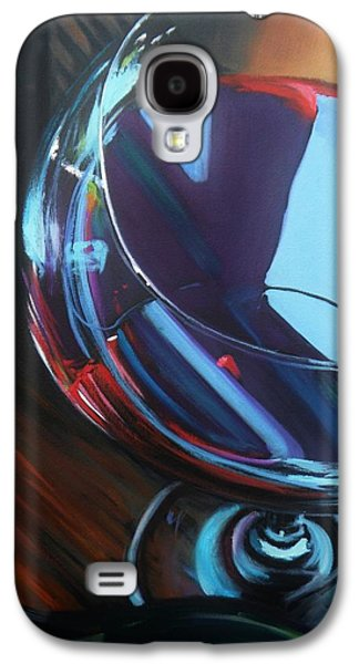 Wine Reflection Art Galaxy S4 Cases - Wine Reflections Galaxy S4 Case by Donna Tuten