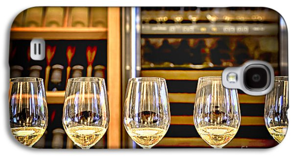Chardonnay Galaxy S4 Cases - Wine tasting  Galaxy S4 Case by Elena Elisseeva