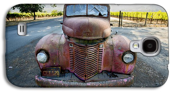 Old Trucks Photographs Galaxy S4 Cases - Wine Truck Galaxy S4 Case by Jon Neidert