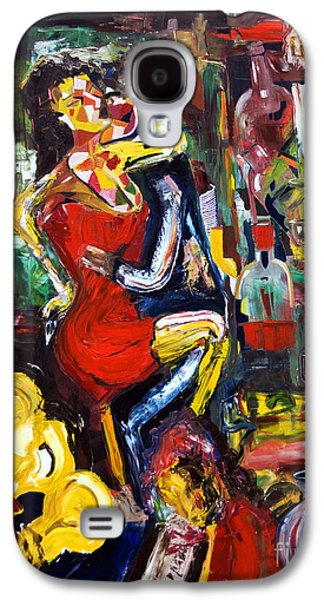 Dance Floor Paintings Galaxy S4 Cases - Wine Woman And Music Galaxy S4 Case by James Lavott