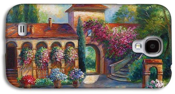 Garden Scene Galaxy S4 Cases - Winery in Tuscany Galaxy S4 Case by Gina Femrite