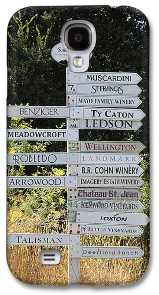 Wing Chee Tong Galaxy S4 Cases - Winery Street Sign In The Sonoma California Wine Country 5D24601 Galaxy S4 Case by Wingsdomain Art and Photography